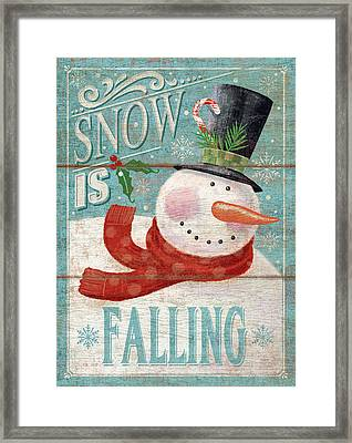 Snow Is Falling Framed Print by P.s. Art Studios