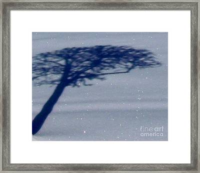 Snow Is Glistening Framed Print