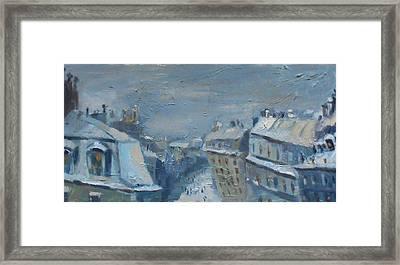 Snow Is Paris Framed Print by NatikArt Creations