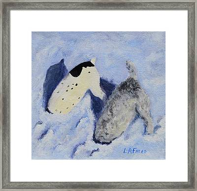 Snow Jacks Framed Print by Linda Freed
