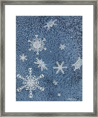 Framed Print featuring the painting Snow Jewels by Margaret Bobb