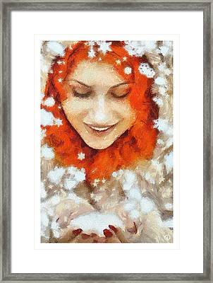 Snow Joy Framed Print by Gun Legler