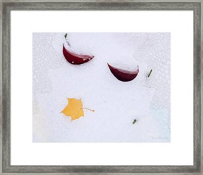 Snow Kissed Framed Print