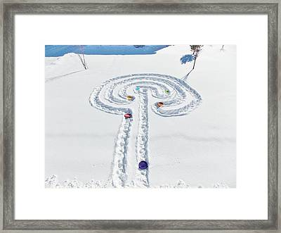 Snow Labyrinth Framed Print