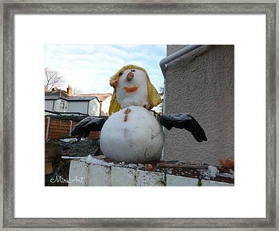 Snow Lady Framed Print