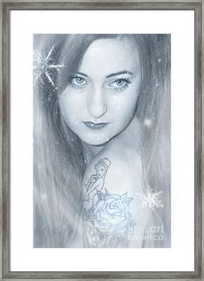 Snow Lady Framed Print by Svetlana Sewell
