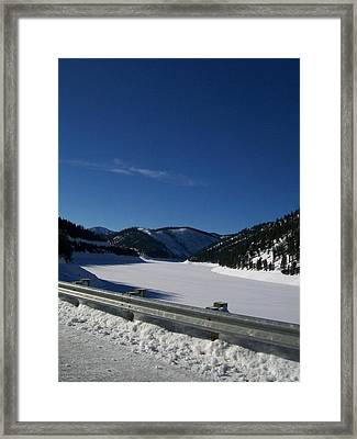 Framed Print featuring the photograph Snow Lake by Jewel Hengen