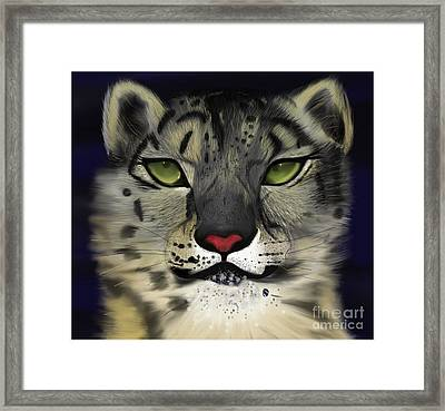 Snow Leopard - The Eyes Have It Framed Print