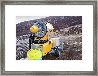 Snow Machine In The Cairngorms Framed Print