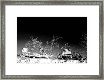 Snow Machines On The Roof Framed Print