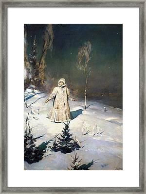 Snow Maiden 1899 By Vasnetsov  Framed Print