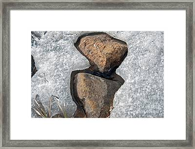 Framed Print featuring the photograph Snow Melt 2 by Minnie Lippiatt