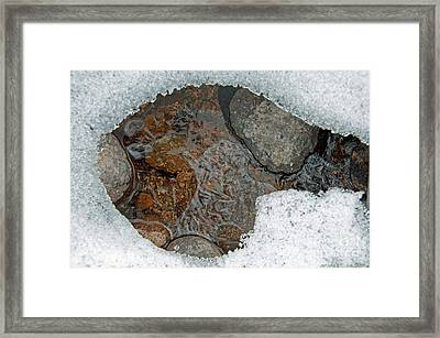 Framed Print featuring the photograph Snow Melt 3 by Minnie Lippiatt