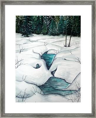 Snow Melt Framed Print by Joey Nash