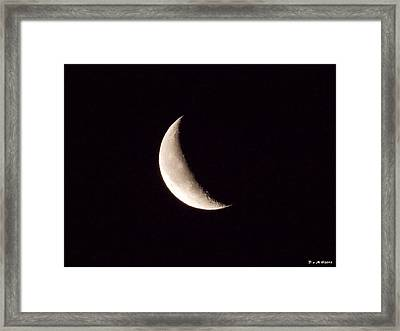 Framed Print featuring the photograph Snow Moon by Deborah Moen