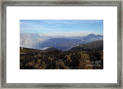 Snow  Mountain Framed Print