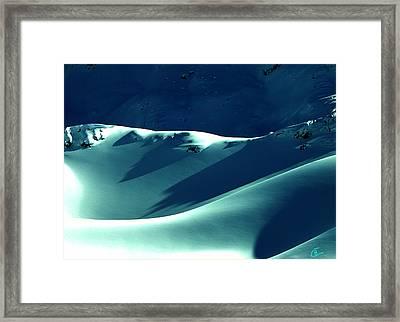 Snow Mountain In Austria  Framed Print by Colette V Hera  Guggenheim