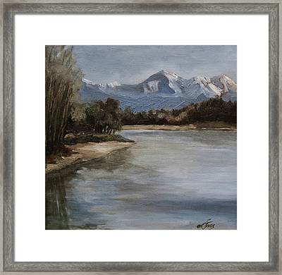Snow Mountain Framed Print by Suzanne Tynes
