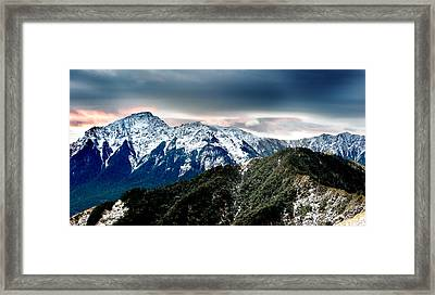 Snow Mountain Framed Print by Yew Kwang
