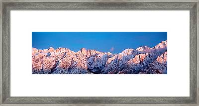 Snow Mt Whitney Ca Usa Framed Print by Panoramic Images