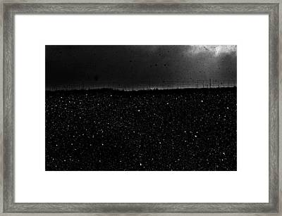 Snow Nightfall Framed Print