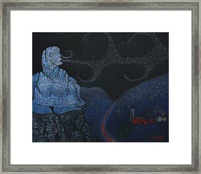 Snow Old Man Winter Framed Print by Gerald Strine