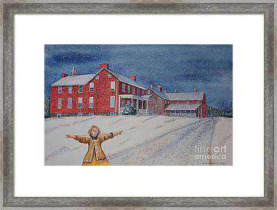 Snow On Cashtown Road Framed Print