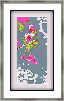 Snow On Cherry Blossom Framed Print by Wendy Wiese
