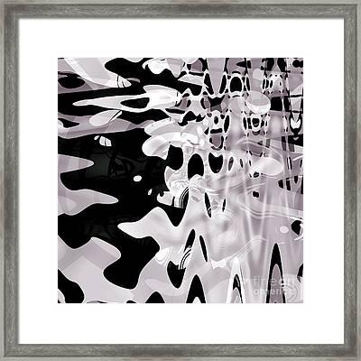 Snow On Frozen Lake Framed Print