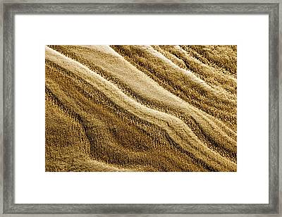 Snow On Sand Framed Print