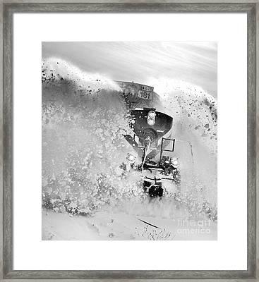 Snow On The Railway Framed Print