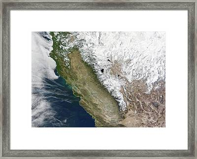 Snow On The Sierra Nevada Framed Print