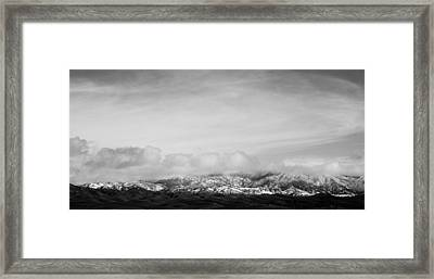 Snow On The Tehachapis Framed Print by Rich Collins