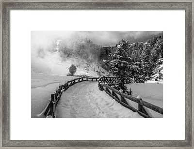 Snow On The Trail Framed Print