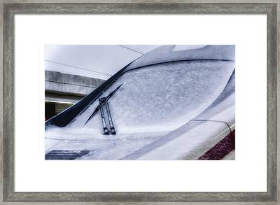 Snow On The Train Framed Print by Joan Carroll