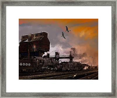 Snow On The Way To Kansas City Framed Print