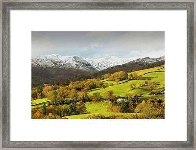 Snow Over Fairfield Framed Print