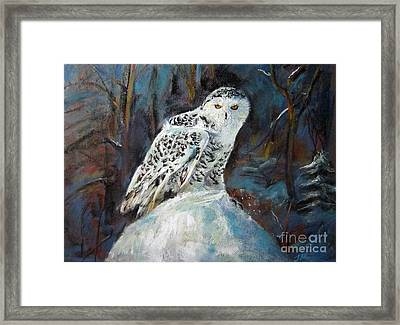 Snow Owl Framed Print by Jieming Wang