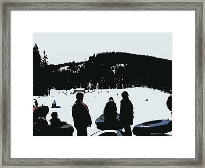 Framed Print featuring the photograph Snow Park Fun  by Mindy Bench
