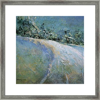 Snow Pasture Framed Print by Bob Pennycook