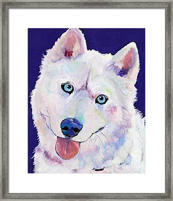 Snow Framed Print by Pat Saunders-White