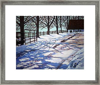 Snow Pattern Framed Print by Betty M M   Wong