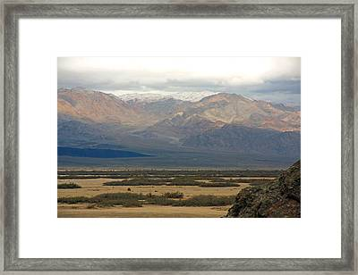 Framed Print featuring the photograph Snow Peaks by Stuart Litoff