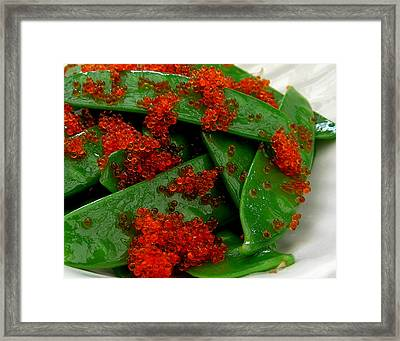 Snow Peas With Tobiko Framed Print