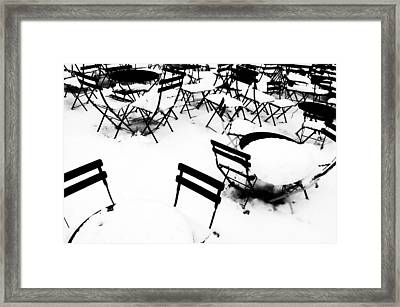 Snow Picnic Framed Print by Diana Angstadt