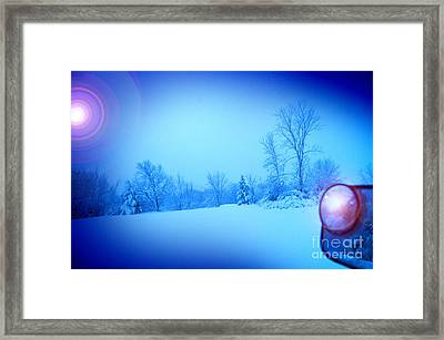 Snow Plow At Thirty Two Below Framed Print by The Stone Age