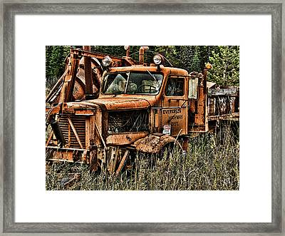 Snow Plow Framed Print