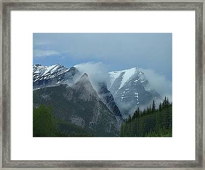 Snow Plumes Framed Print by George Cousins