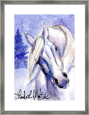 Snow Pony 1 Framed Print