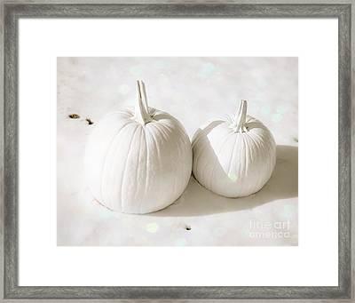 Snow Pumpkins Framed Print by Sonja Quintero